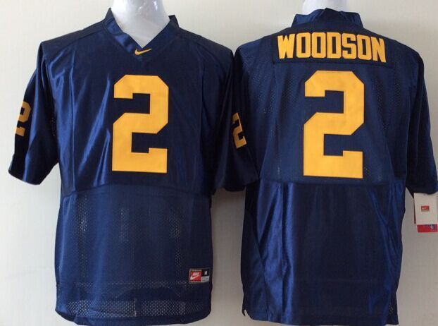 Youth 2016 NCAA Michigan Wolverines 2 Woodson Blue Jerseys
