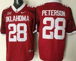 Youth 2016 NCAA Oklahoma Sooners 28 Peterson Red Limited Jerseys