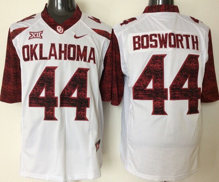Youth 2016 NCAA Oklahoma Sooners 44 Bosworth White Limited Jerseys