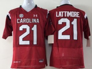 Youth 2016 NCAA South Carolina Gamecock 21 Lattimore Red Jerseys