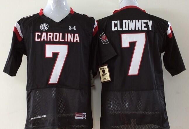 Youth 2016 NCAA South Carolina Gamecock 7 Clowney Black Jerseys
