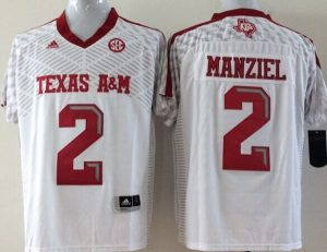 Youth 2016 NCAA Texas A&M Aggies 2 Manziel White Jerseys