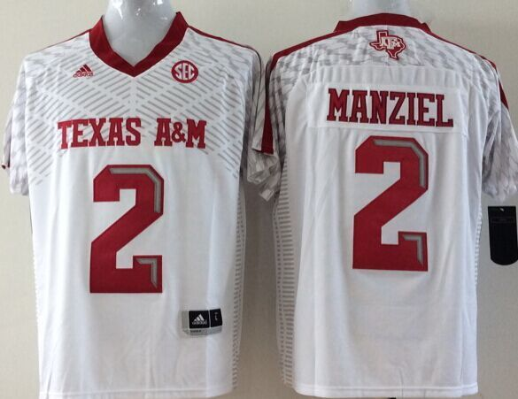 Youth 2016 NCAA Texas A&M Aggies 2 Manziel White Jerseys