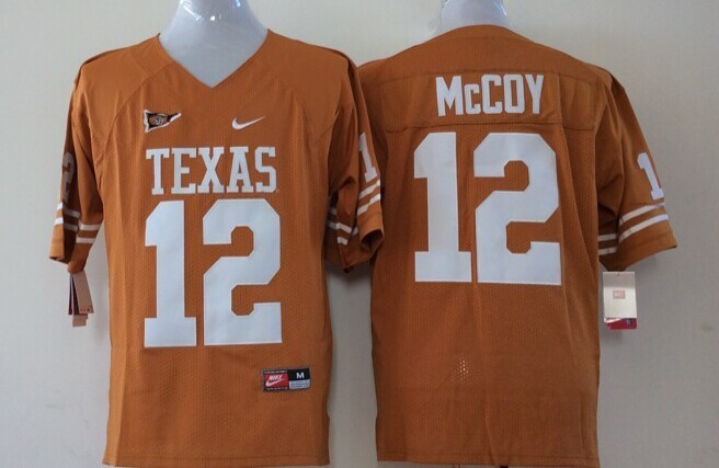 Youth 2016 NCAA Texas Longhorns 12 Mccoy Yellow Jerseys