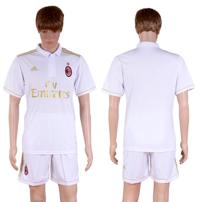 2016-2017 club A.C. Milan away Blank White Soccer Jersey