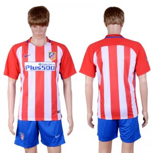 2016-2017 club Atletico Madrid home Blank Red Soccer Jersey