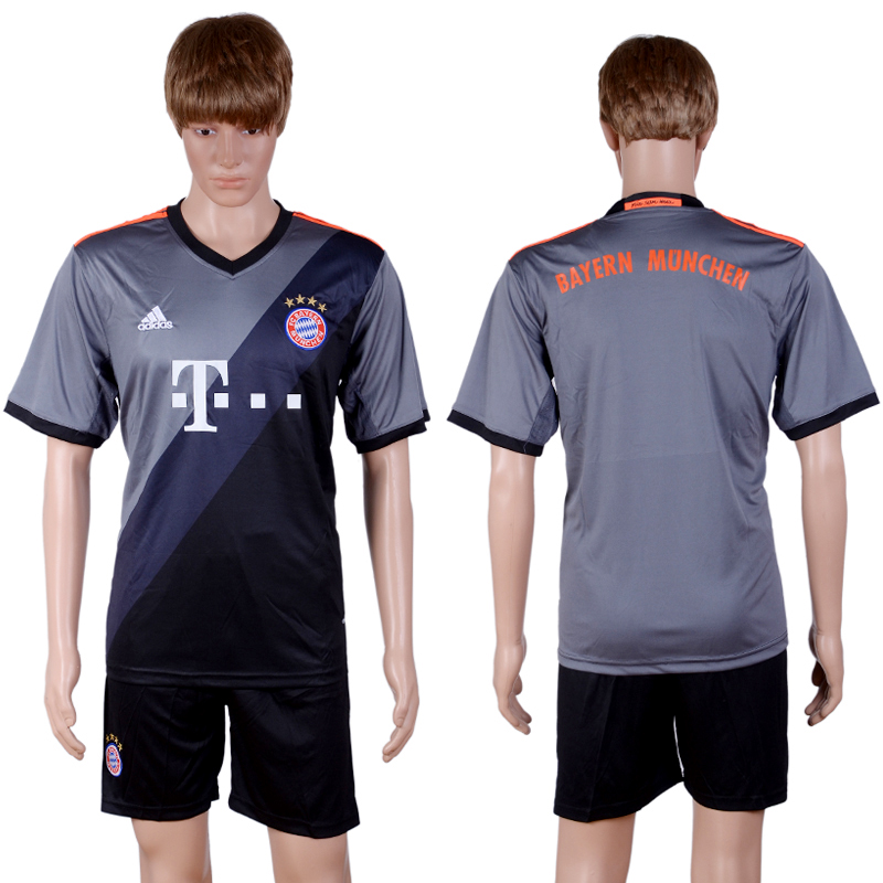 2016-2017 club Bayern Munich away Blank Grey Soccer Jersey