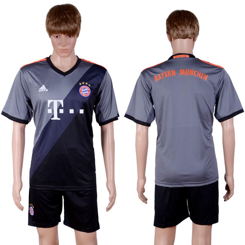 2016-2017 club Bayern Munich away Blank Grey Soccer Jersey