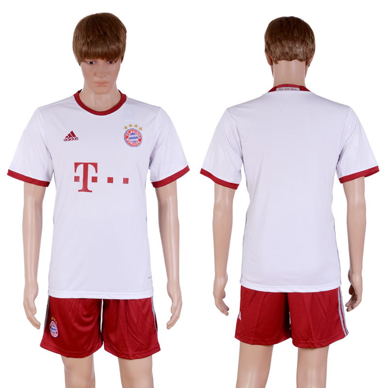 2016-2017 club Bayern Munich second away Blank White Soccer Jersey