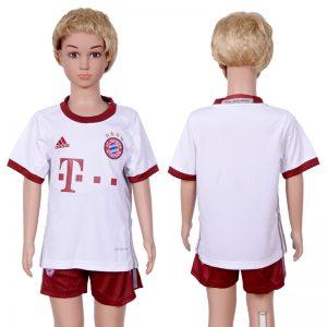 2016-2017 club Bayern Munich second away Blank kids White Soccer Jersey