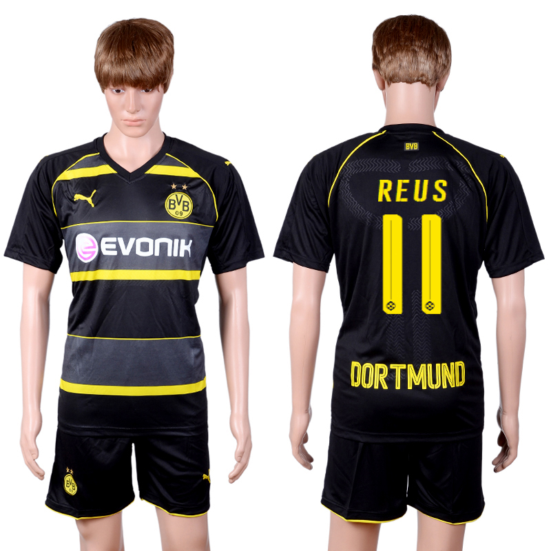 2016-2017 club Dortmund away 11 Black Soccer Jersey