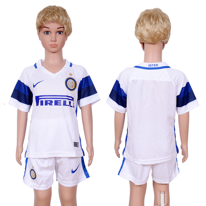 2016-2017 club Inter Milan away kids White Soccer Jersey