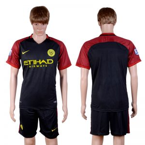 2016-2017 club Manchester city away Blank Black Soccer Jersey