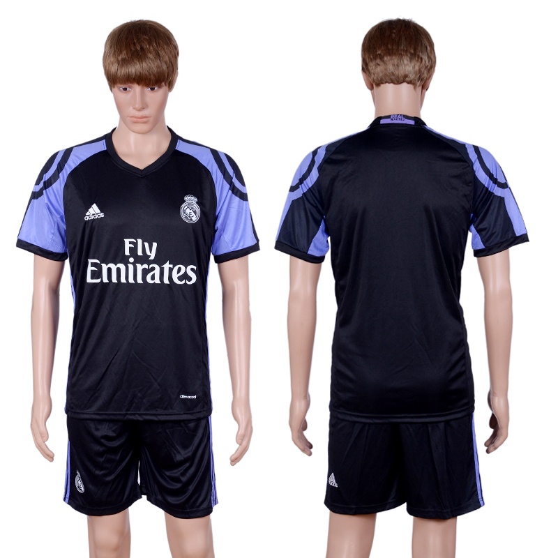 2016-2017 club Real Madrid second away Black Soccer Jersey