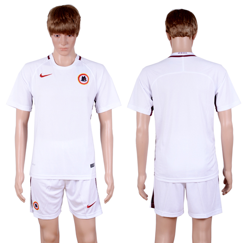 2016-2017 club Rome away Blank White Soccer Jersey