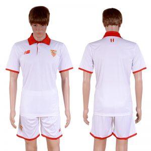 2016-2017 club Sevilla home Blank White Soccer Jersey