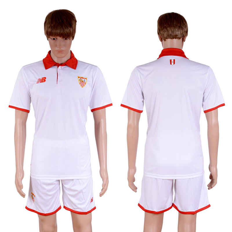 2016-2017 club Sevilla home Blank White Soccer Jersey