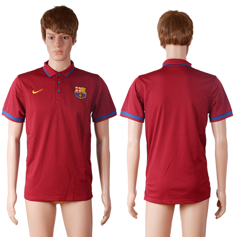 2016 Barcelona away polo shirt red AAA+ soccer jerseys