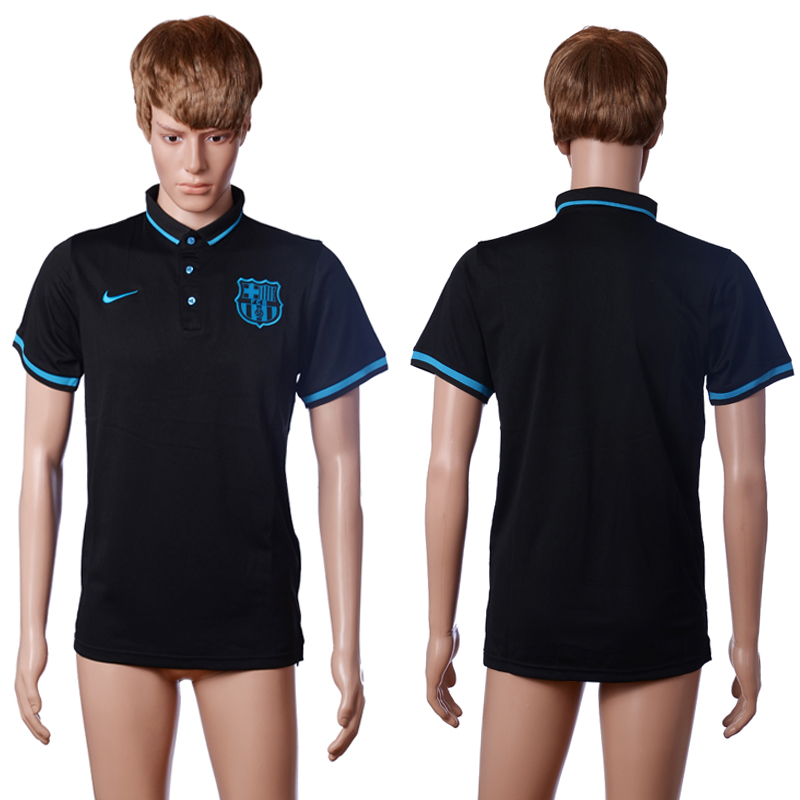 2016 Barcelona second away polo shirt black AAA+ soccer jerseys
