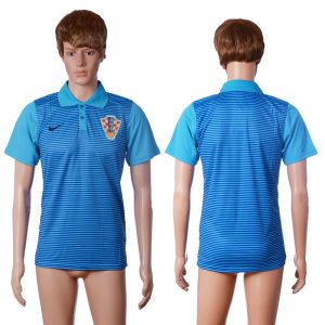 2016 Croatia away polo shirt blue AAA+ soccer jerseys