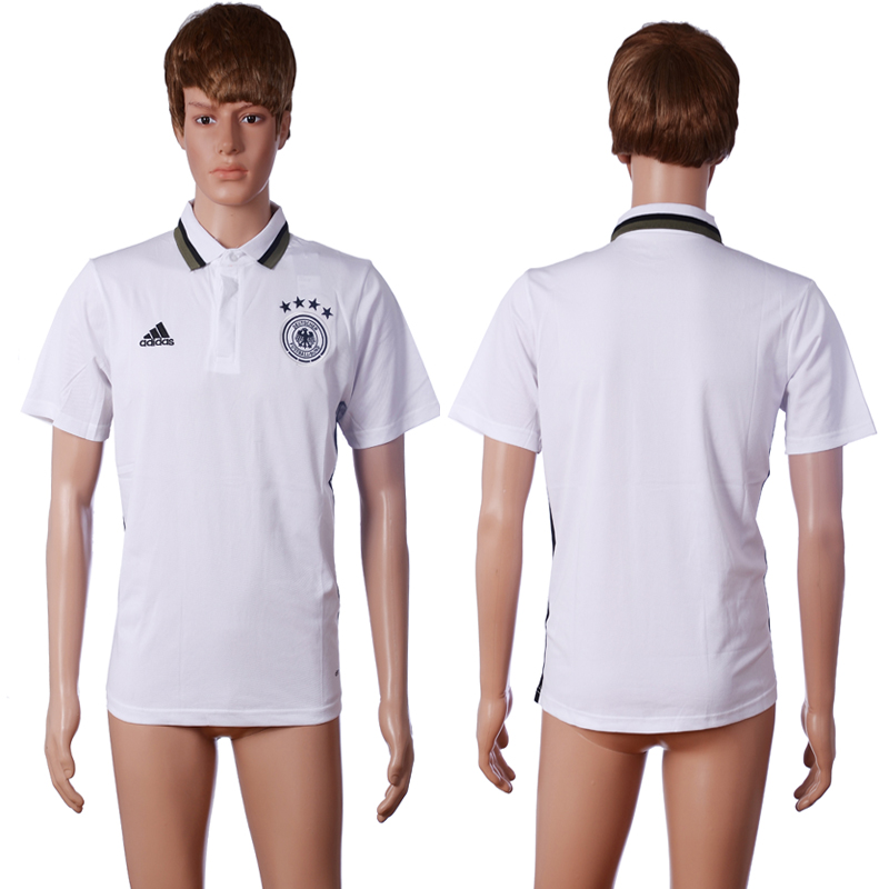 2016 Germany home polo shirt white AAA+ soccer jerseys
