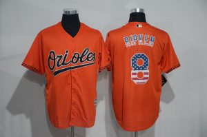 2016 MLB Baltimore Orioles 8 Cal Ripken Orange USA Flag Fashion Jerseys