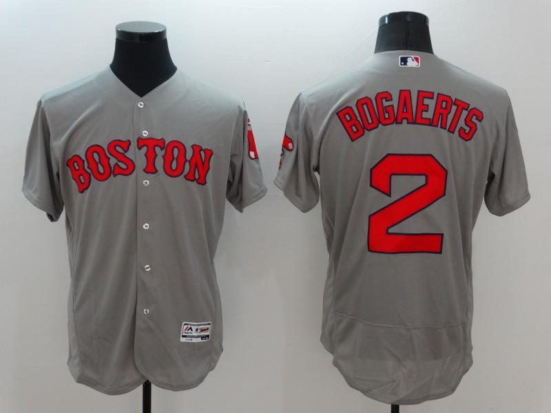 2016 MLB Boston Red Sox 2 Bogaerts Grey Elite Fashion Jerseys