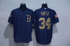 2016 MLB Boston Red Sox 34 Ortiz Cowboy blue camouflage