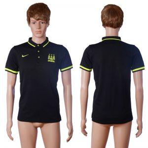 2016 Manchester city away polo shirt black AAA+ soccer jerseys