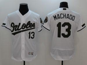 2017 MLB Baltimore Orioles 13 Machado White Elite Commemorative Edition Jerseys