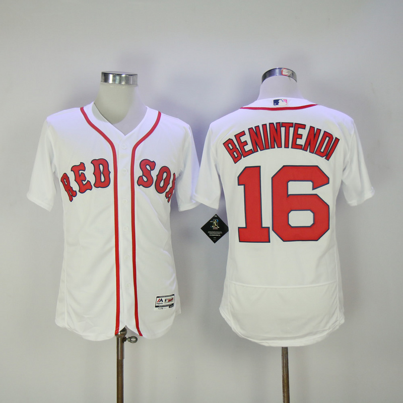 2017 MLB Boston Red Sox 16 Benintendi White Elite Jerseys