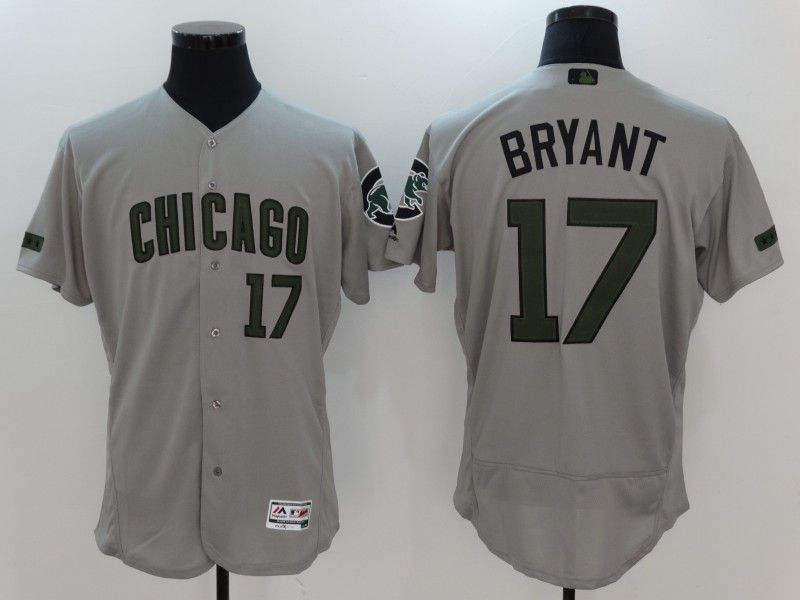 2017 MLB Chicago Cubs 17 Bryant Grey Elite Commemorative Edition Jerseys