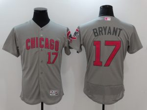 2017 MLB Chicago Cubs 17 Kris Bryant Grey Mother's Day Jerseys