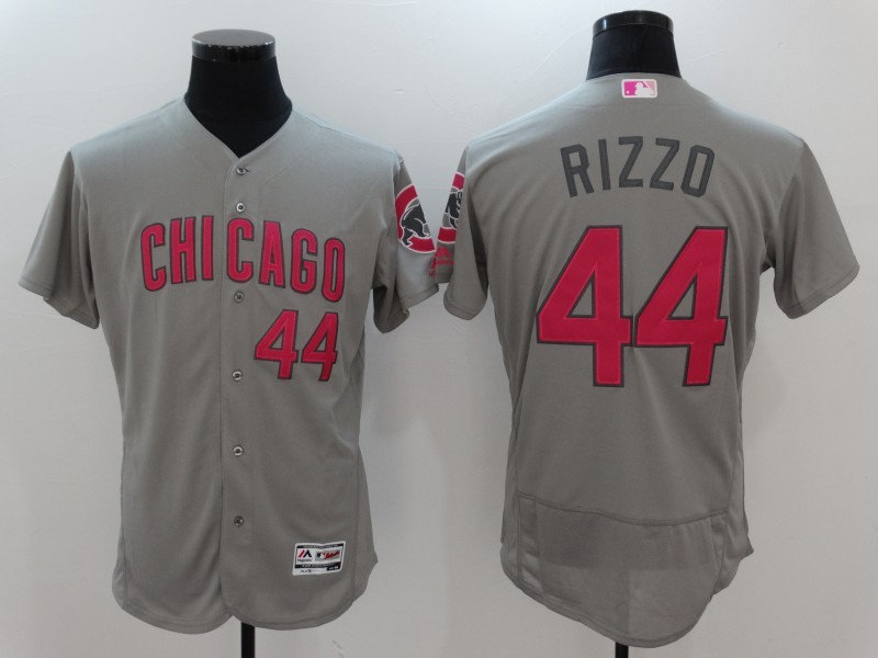 2017 MLB Chicago Cubs 44 Anthony Rizzo Grey Mother's Day Jerseys