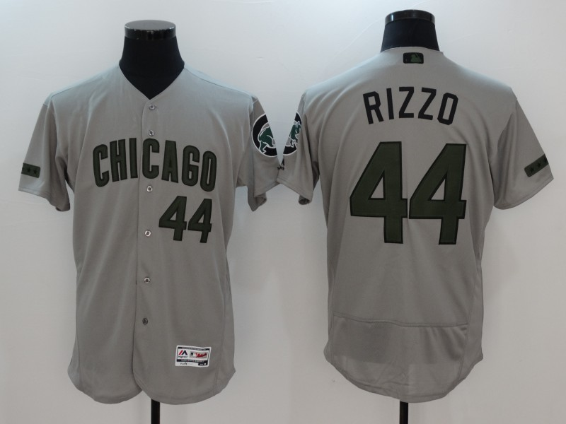 2017 MLB Chicago Cubs 44 Rizzo Grey Elite Commemorative Edition Jerseys