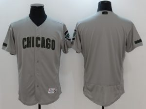 2017 MLB Chicago Cubs Blank Grey Elite Commemorative Edition Jerseys