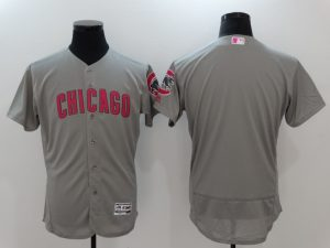 2017 MLB Chicago Cubs Blank Grey Mother's Day Jerseys