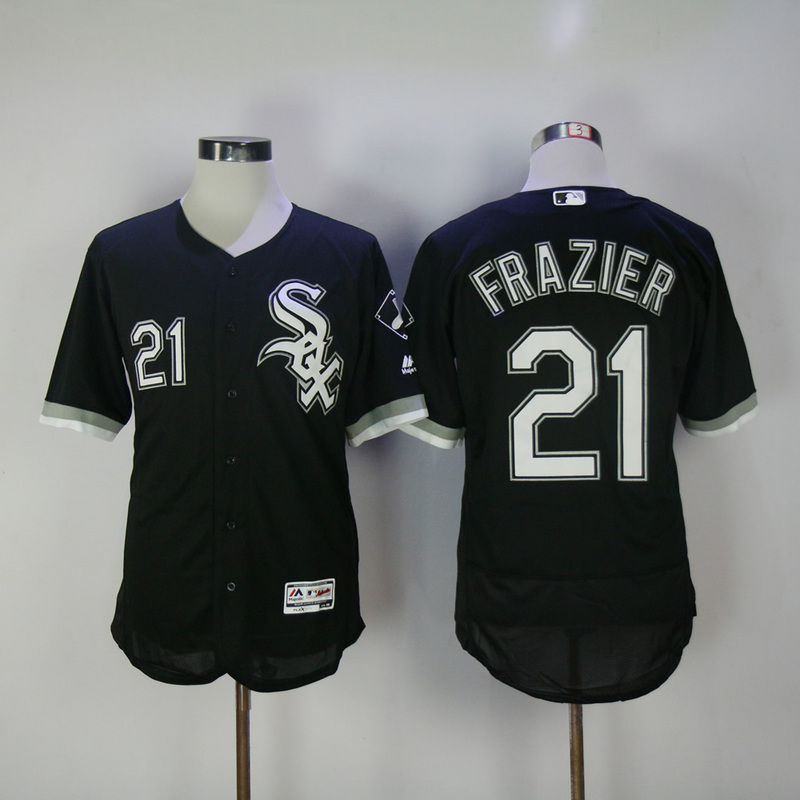 2017 MLB Chicago White Sox 21 Frazier Black Elite Jerseys