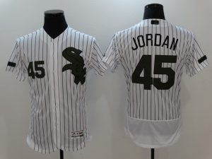 2017 MLB Chicago White Sox 45 Jordan White Elite Commemorative Edition Jerseys