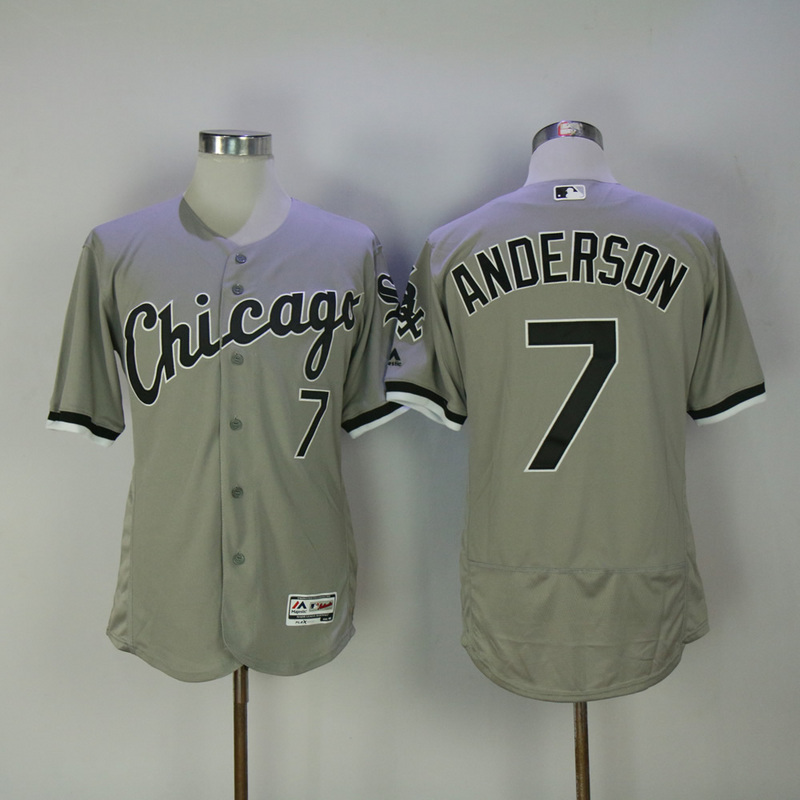 2017 MLB Chicago White Sox 7 Anderson Grey Elite Jerseys
