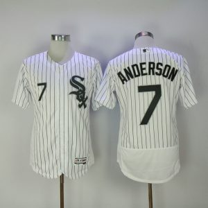 2017 MLB Chicago White Sox 7 Anderson White Elite Jerseys