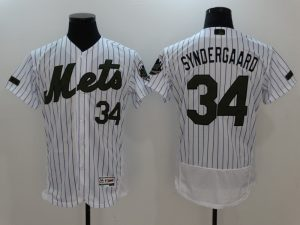 2017 MLB New York Mets 34 Syndergaard White Elite Commemorative Edition Jerseys