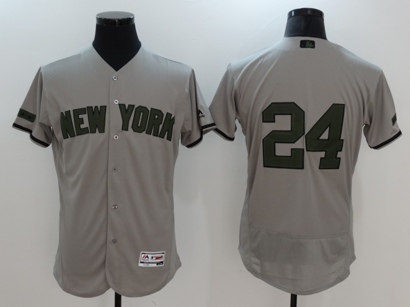 2017 MLB New York Yankees 24 Gary Sanchez Grey Elite Commemorative Edition Jerseys