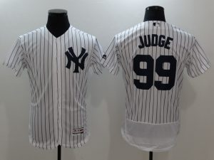 2017 MLB New York Yankees 99 Judge White Elite Jerseys