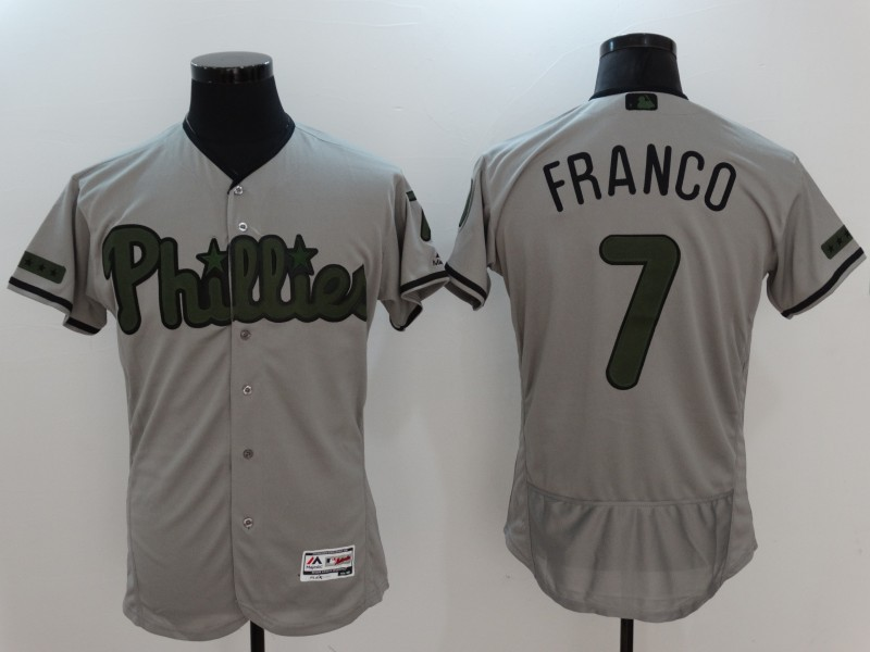 2017 MLB Philadelphia Phillies 7 Franco Grey Elite Commemorative Edition Jerseys