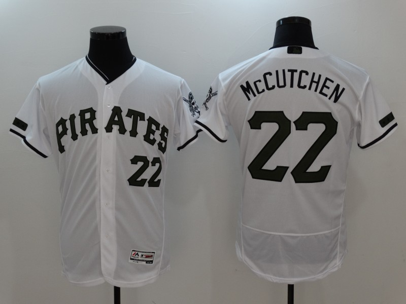2017 MLB Pittsburgh Pirates 22 Mccutchen White Elite Commemorative Edition Jerseys