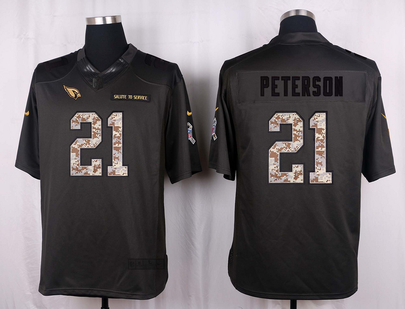Arizona Cardinals 21 Peterson 2016 Nike Anthracite Salute to Service Limited Jersey