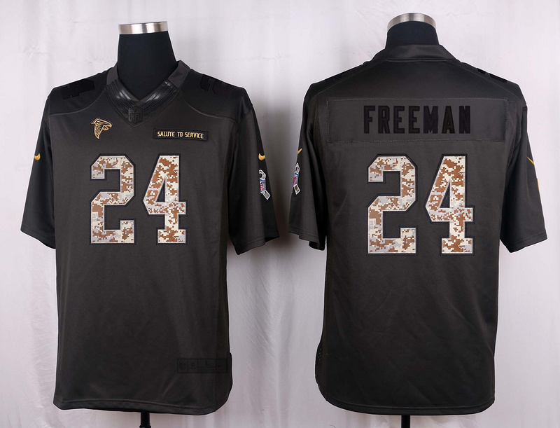 Atlanta Falcons 24 Freeman 2016 Nike Anthracite Salute to Service Limited Jersey