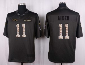 Baltimore Ravens 11 Aiken 2016 Nike Anthracite Salute to Service Limited Jersey