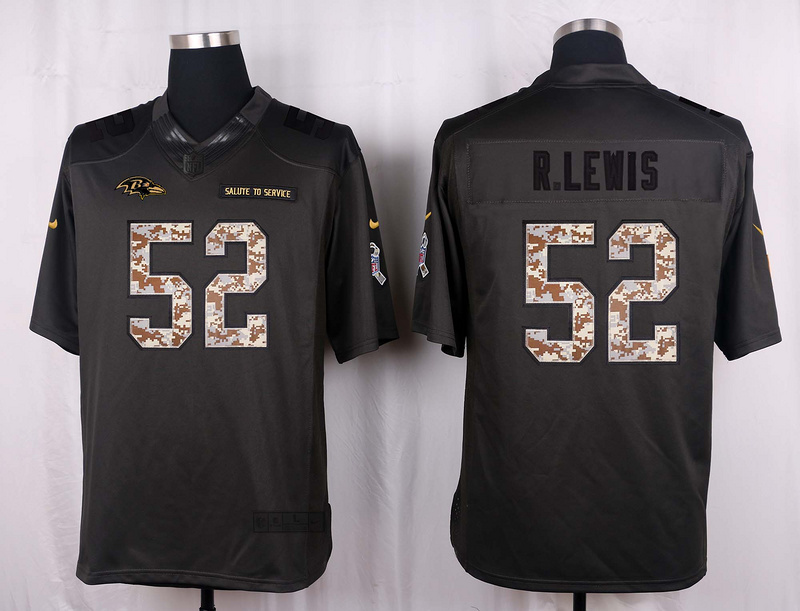 Baltimore Ravens 52 R.Lewis 2016 Nike Anthracite Salute to Service Limited Jersey
